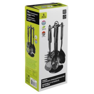 881-444 Набор кухонных принадлежностей 6 предметов, жаропрочный нейлон, Блэк