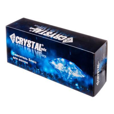 """562-025 CRYSTAL mix Смеситель Блюз 898 для ванны, дл. излив, керам. кран-буксы 1/2"""", хром"""