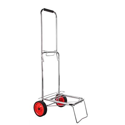 467-002 Тележка для сумок, грузоподъемность 40кг, металл, 95х35х46см, колеса d14см, хром