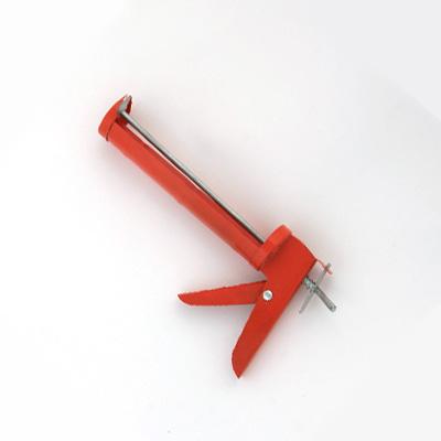 Пистолет для герметика с мет. фиксатором 225мм полукорп.