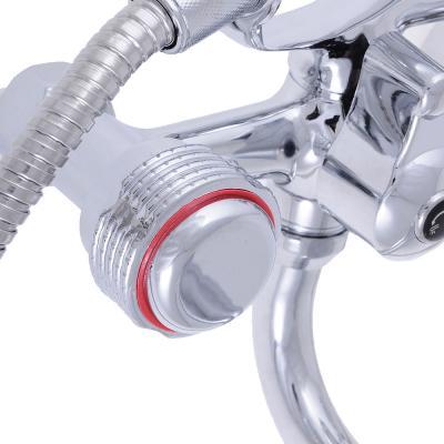 """566-103 Смеситель для ванны, длинный излив, керамические кран-буксы 3/8"""", хром, Quartz 9831 (НВ20)"""