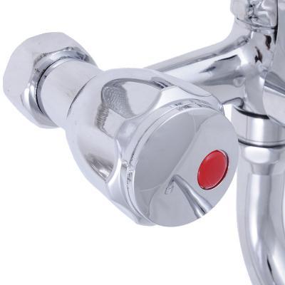 """566-112 Смеситель для ванны, длинный излив, резиновые кран-буксы 3/8"""", хром, Quartz 9826 (НВ22)"""