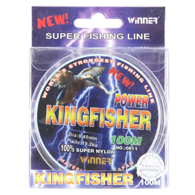 338-406 AZOR Леска winner 0811 Kingfisher размер 0,30 голубая 100м