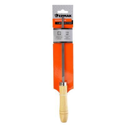 645-003 ЕРМАК Напильник с дерев.ручкой квадр. 150мм