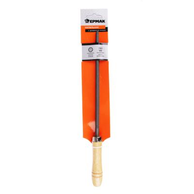 645-013 ЕРМАК Напильник с дерев.ручкой круглый 200мм