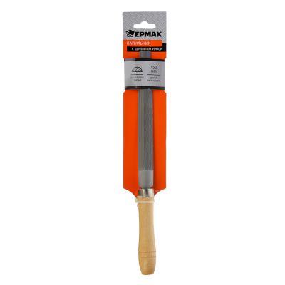 645-020 ЕРМАК Напильник с дерев.ручкой п/круглый 150мм