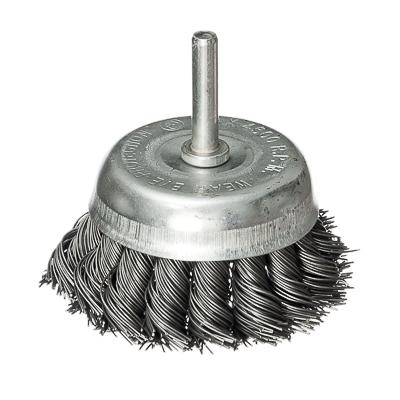 656-023 FALCO Щетка металл. со шпилькой для дрели 65мм, крученая (чашка)