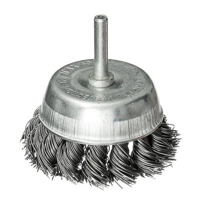 656-024 FALCO Щетка металл. со шпилькой для дрели 75мм, крученая (чашка)