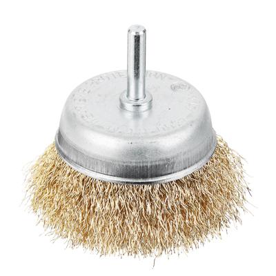 656-027 FALCO Щетка металл. со шпилькой для дрели 75мм (чашка)