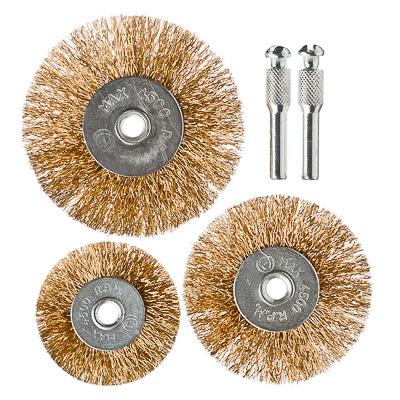 656-032 ЕРМАК Набор щеток металл со шпильками 3 пр (50,63,75мм -плоские)