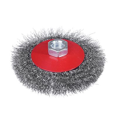 656-041 ЕРМАК Щетка металл. для УШМ 100мм/М14 (тарелка)