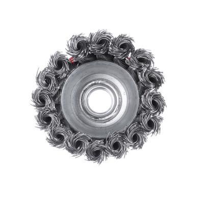656-044 ЕРМАК Щетка металл. для УШМ 65мм/М14 крученая (чашка)