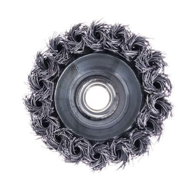 656-045 ЕРМАК Щетка металл. для УШМ 75мм/М14 крученая (чашка)