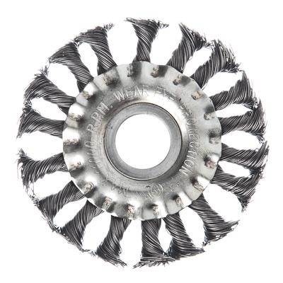 656-049 ЕРМАК Щетка металл. для УШМ100мм/22мм, крученая, дисковая