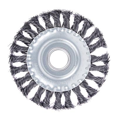 656-050 ЕРМАК Щетка металл. для УШМ125мм/22мм, крученая, дисковая