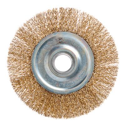 656-056 ЕРМАК Щетка металл. для УШМ 150мм/22мм, плоская