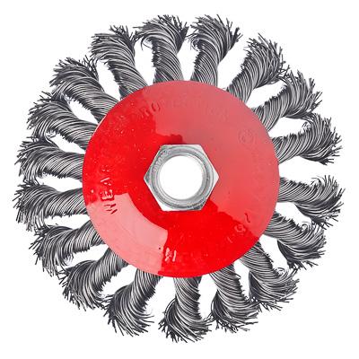 656-074 ЕРМАК Щетка металл. для УШМ 100мм/М14, крученая (тарелка)