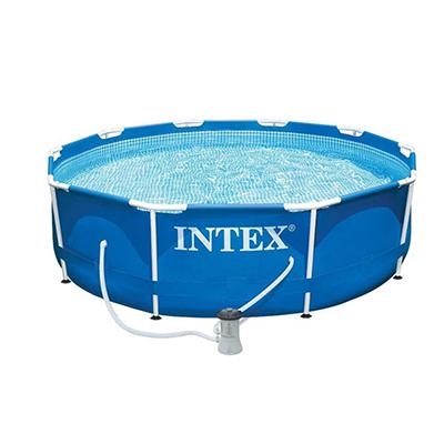 359-008 Каркасный бассейн  INTEX 28202 Metal Frame с насосом и фильтром 305x76см