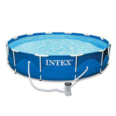 359-009 Каркасный бассейн INTEX 28212 Metal Frame с насосом и фильтром 366x76см