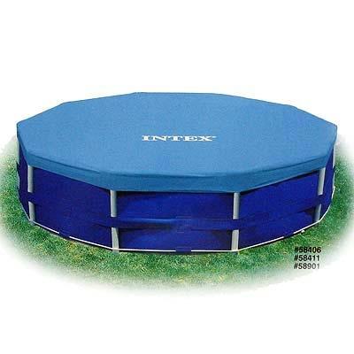 359-021 Круглая крышка INTEX 58411/28031  для бассейна на веревочном креплении d. 366 см