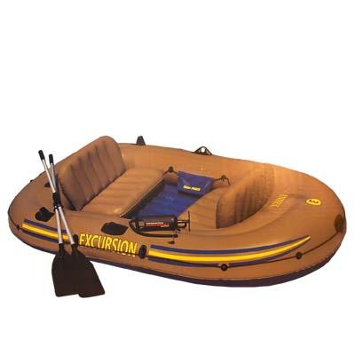 359-047 INTEX Лодка Excursion 3 Set (300кг) 3 камеры, 2 подушки, весла, насос, 262x157x42см, 68319