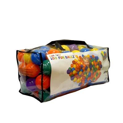 359-054 INTEX Шары для сухих бассейнов, от 3 лет 100шт в сумке D8см 49600