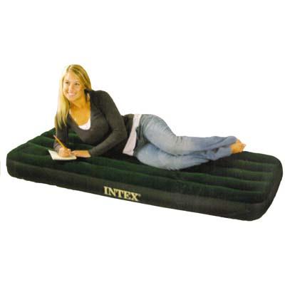 """359-064 Кровать флок со встроенным насосом, 76х191х22 см, зеленый, INTEX """"Downy"""", 66950"""
