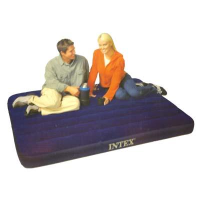 """359-079 Кровать флок, 137х191х22 см, синий, INTEX """"Classic Downy"""", 68758"""