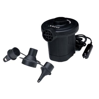 359-115 INTEX Насос электрический дорожный 12V от прикуривателя, 3 насадки 66626