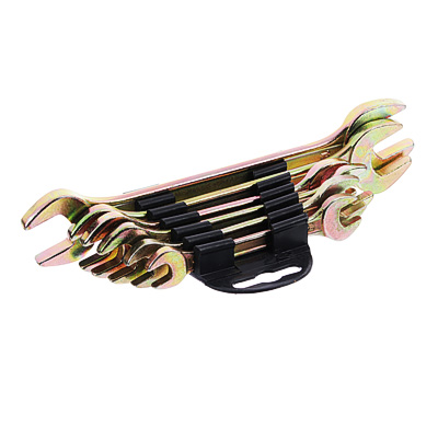 736-070 ЕРМАК Набор ключей рожковых, 6 предм., 8x10-17x19мм, желтый цинк, пластик холдер