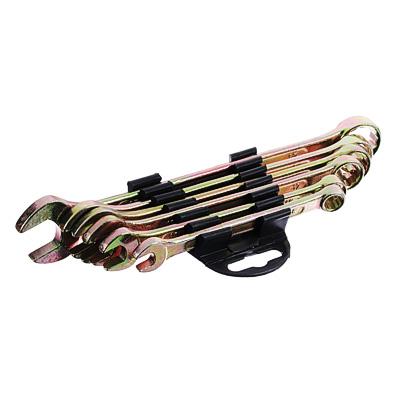 736-078 ЕРМАК Набор ключей рожково-накидных, 6 предм. 8-17мм, желтый цинк