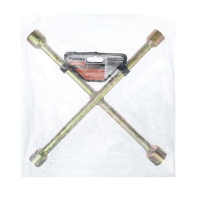 "766-016 ЕРМАК Ключ баллонный крестовой, 17-19-21-23 мм, 14"", желтый цинк, SZ002Z"