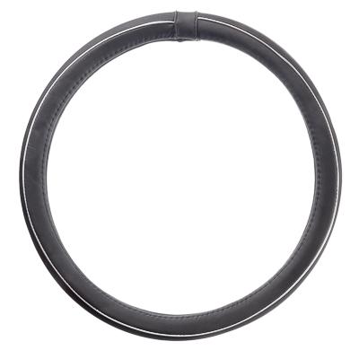 """708-224 NEW GALAXY Оплетка руля, экокожа, с """"метал"""". молдингом, черный, разм. (М)"""