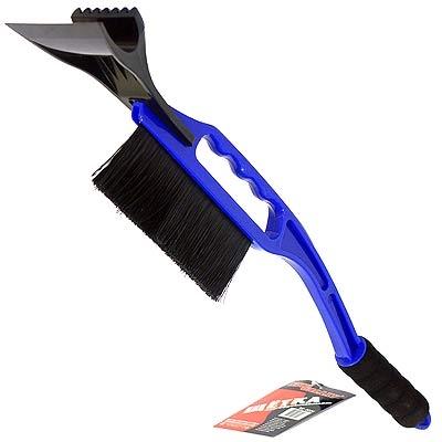775-090 NEW GALAXY Щетка сметка+скребок XP 502H, синяя, 55 см