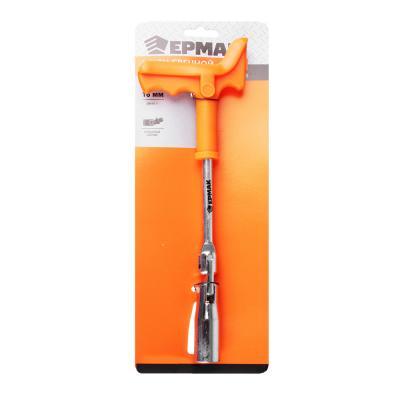 766-054 ЕРМАК Ключ свечной, с карданным шарниром, 16 мм (желтый цинк/хром)