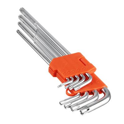 657-025 ЕРМАК Набор ключей TORX-профиль 9пр. (80х3мм-230х9мм)