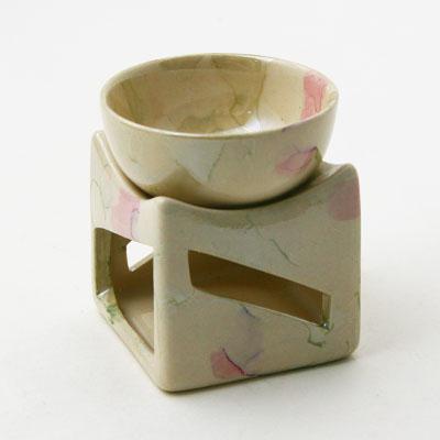 536-003 Аромалампа чаша на кубе, перламутр, 4цв CY5-18