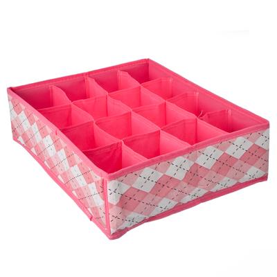 457-092 VETTA Кофр для текстильных мелочей 16 секций, нетканый материал, 36х27х10см