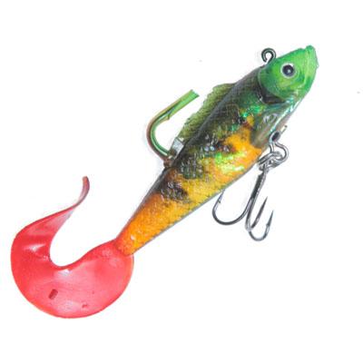 338-780 AZOR Мягкая приманка CH-D025 1-01, рыба виброхвост с 3 крючками, 86мм, 10,6гр, 4 шт в уп