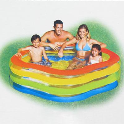 359-141 Надувной бассейн для детей INTEX 56495  Цвета лета 185x180x53 см, от 3 лет