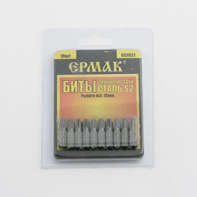 Набор бит PZ3, 25 мм. (10шт.)