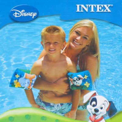 359-144 INTEX Нарукавники Disney, 2шт, для 3-6 лет 23*15см 56645