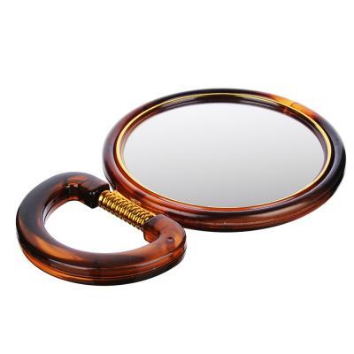 301-150 Зеркало настольное круглое ЮниLook, d.14,5 см, коричнево-золотое