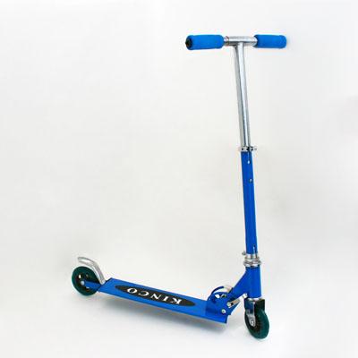 131-024 Самокат KINCO JL-2013, железо 100%, колеса PVC 96мм, синий