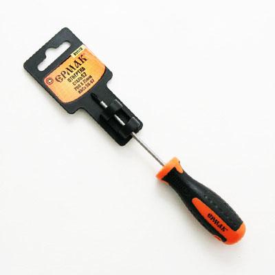Отвертка крестовая с двухкомпонентной ручкой PH0*75 мм S2