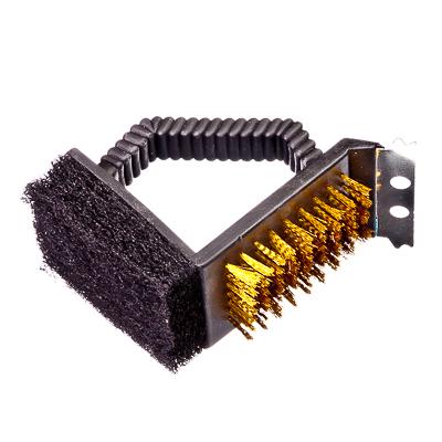 333-259 GRILLBOOM Набор для чистки мангала 2 пр. (щетка+губка) 13x9см, XT-KS-07,