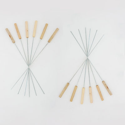 103-292 Набор шампуров 12шт, 46см, деревянная ручка, CF-4653
