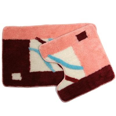 462-161 VETTA Набор ковриков 2шт для ванной и туалета, акрил, 50x80см + 50x50см, SCF05-054