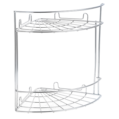478-014 ARTEX Полка настенная угловая двухъярусная Slim арт.27 10 38