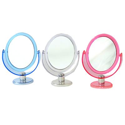 301-181 Зеркало настольное овальное, пластик, d. 22 см, 3 цвета